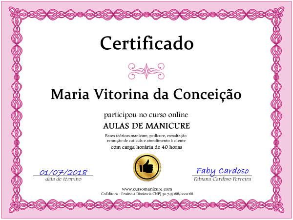 Curso de Manicure Faby Cardoso